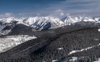 VIEW FROM THE TOP OF VAIL